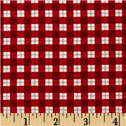 Moda Mistletoe Lane Plaid Crimson