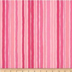 Moda Dot .Dot.Dash-! Wobbly Strips Pink