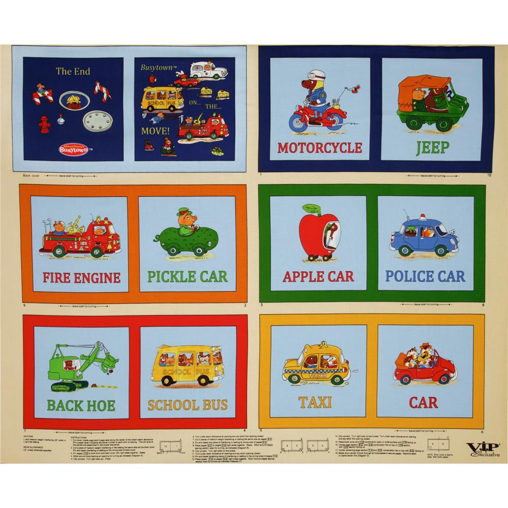 Busytown Soft Book Panel Multi/Natural