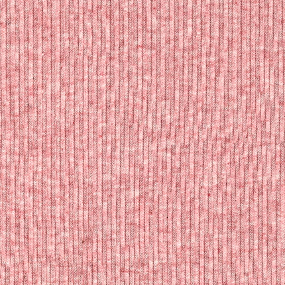 Basic Cotton Rib Knit Heather Pink