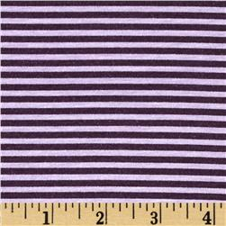 Cotton Blend Jersey Knit Stripe Purple