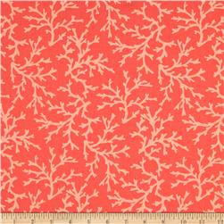 Michael Miller Sea Buddies Sea Coral Coral Fabric