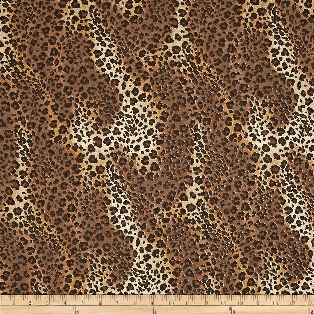 Designer Cotton Jersey Knit Cheetah Brown/Tan