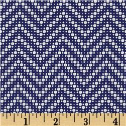 Moda Fresh Air Dotted Chevron Navy