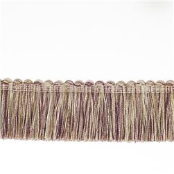 "Fabricut 1.5"" Escargot Brush Fringe Light Amethyst"