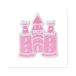 Boutique Applique Castle Pink/White
