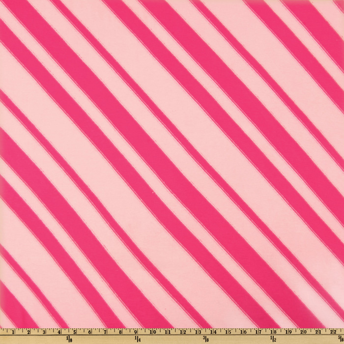 Rayon Blend Jersey Knit Diagonal Stripe Pink