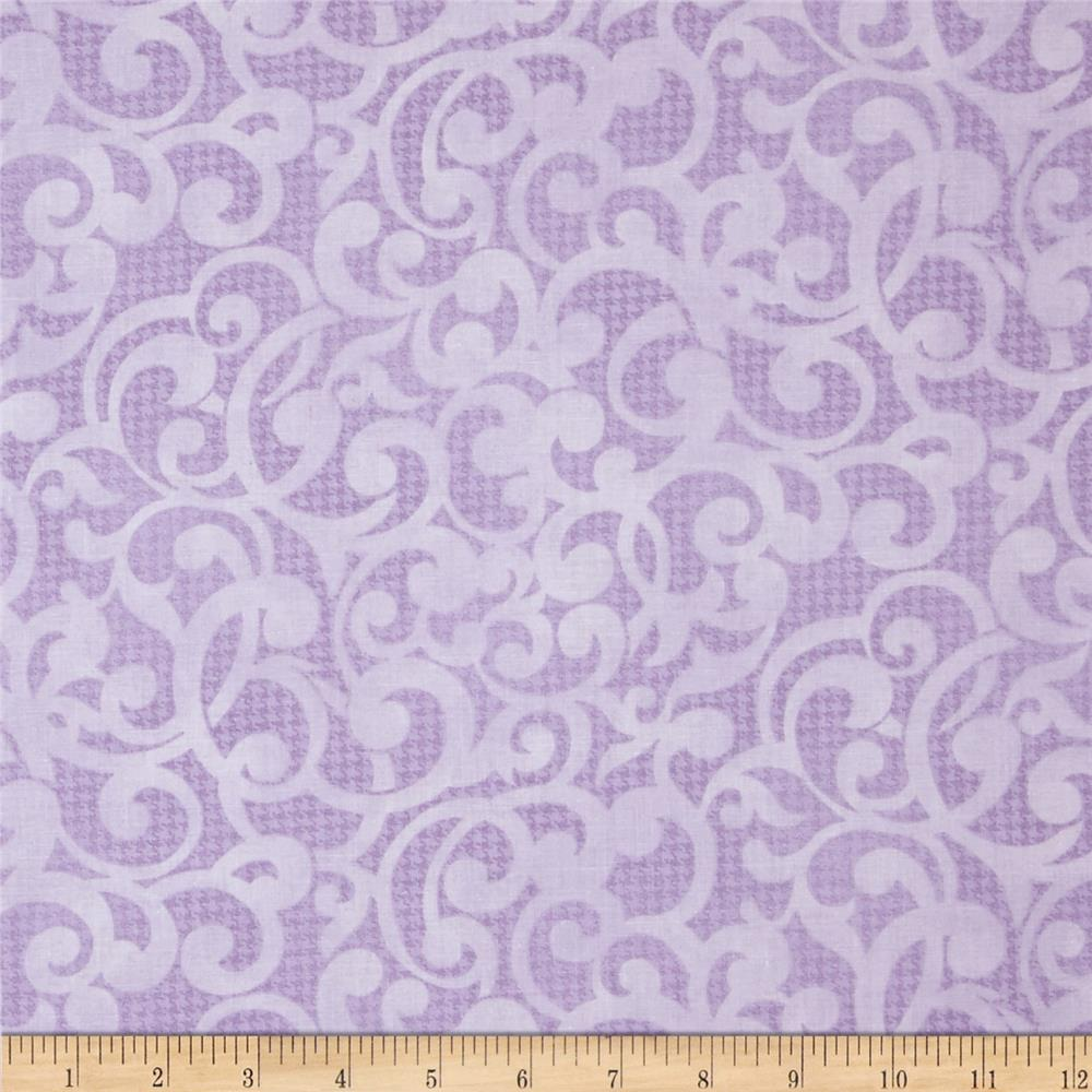 "Filigree 108"" Wide Quilt Backing Purple"