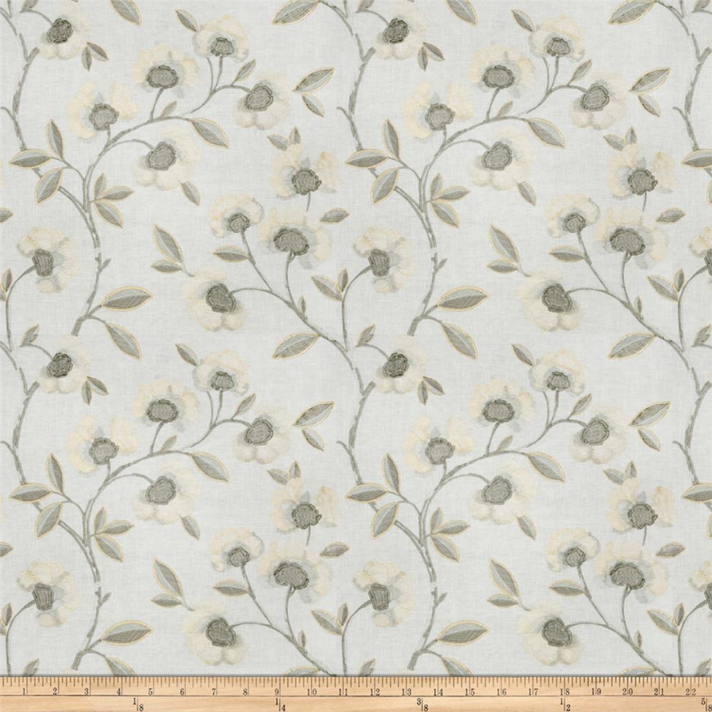 Fabricut Pennant Floral Pewter