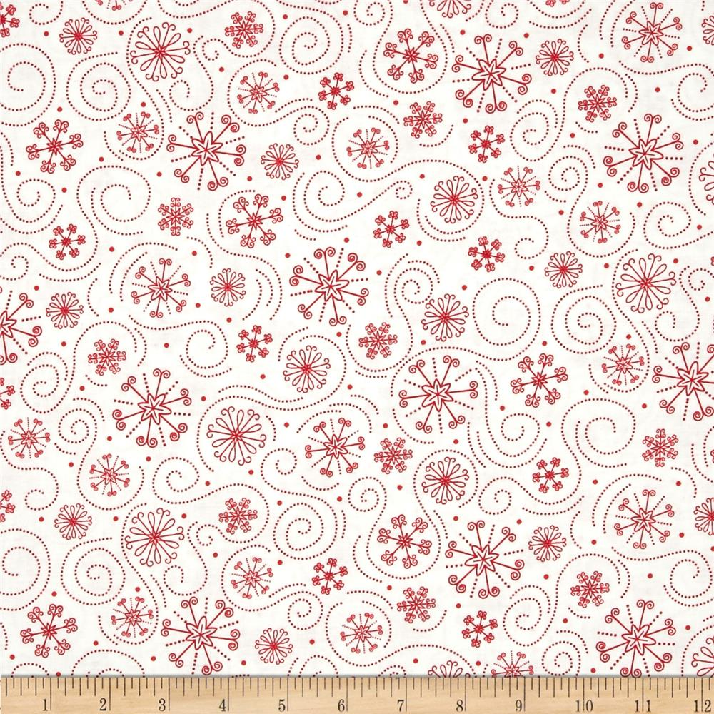 Holly Jollies Snowflake Swirl Red