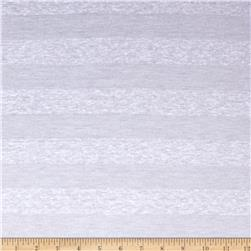 Cotton Poly Tissue Knit Tonal Stripe Snow