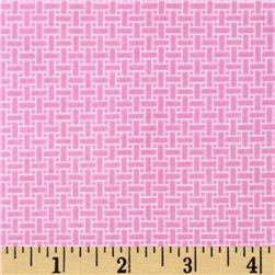 Cuddle Me Basics Flannel Basketweave Pink