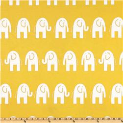 Premier Prints Ele Slub White/Yellow Fabric