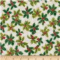 Lecien Winter Gift Elegant Holly White