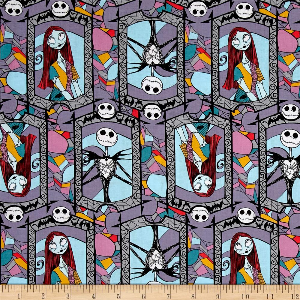 Disney Nightmare Before Christmas Sally And Jack Stained Glass Multi ...