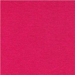 Cotton Baby Rib Knit Solid Fuchsia