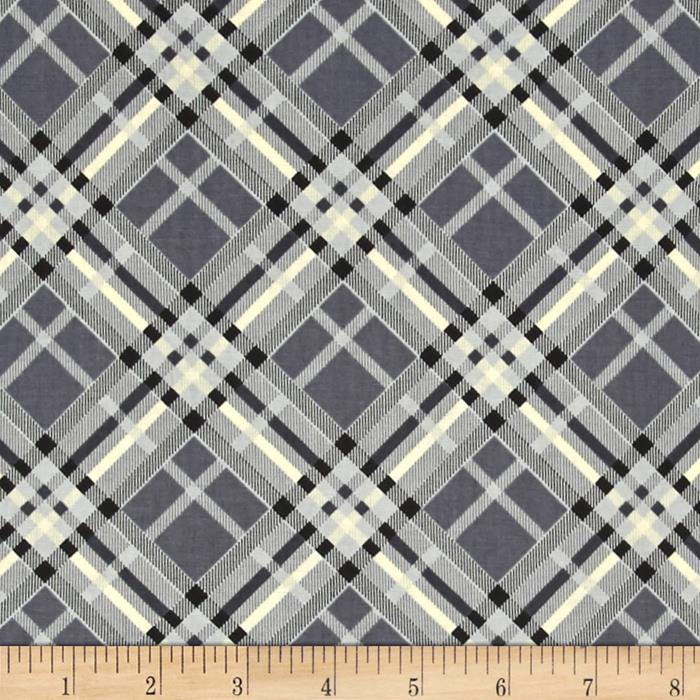 Vintage Modern Bias Plaid Grey