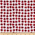 Robert Kaufman Urban Zoologie Mini Flannel Ladybugs Cherry