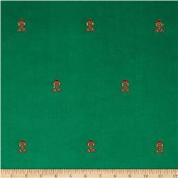 Embroidered 21 Wale Corduroy Gingerbread Green/Brown