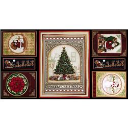 "Christmas Elegance 24"" Panel Multi"