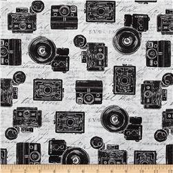 Objects Cameras Grey Fabric