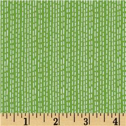 Dear Stella Savannah Ticking Stripe Green Fabric