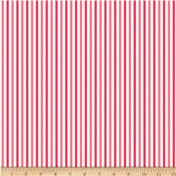 Riley Blake Home for the Holidays Stripe Red