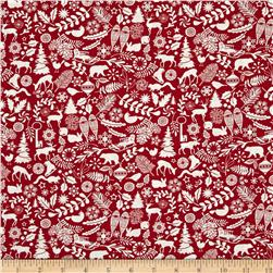 Holiday Magic Winter Motifs Red