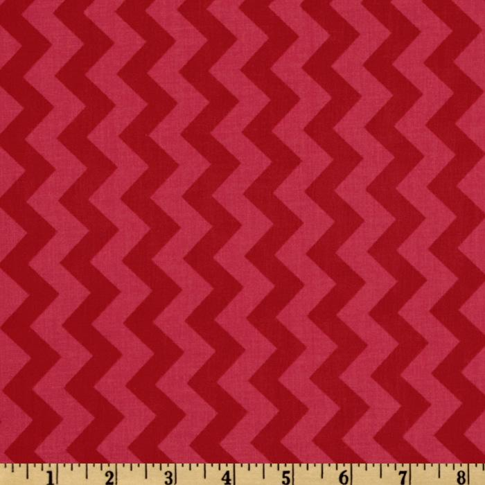 Riley Blake Chevron Small Tonal Red