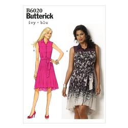 Butterick Misses' Dress and Belt Pattern B6020 Size A50