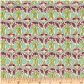 Liberty Of London Tana Lawn Mauverina Pink/Light Green/Light Turquoise