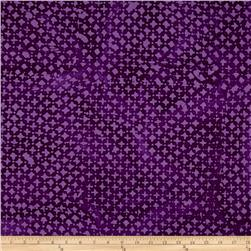 Indian Batik Hollow Ridge Dots Purple