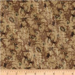 Designer Chiffon Sparkle Stripes Floral Natural