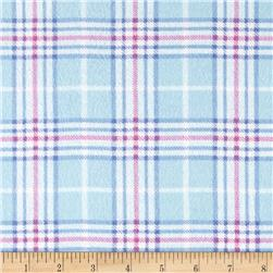 Nursery Plaid Flannel Blue