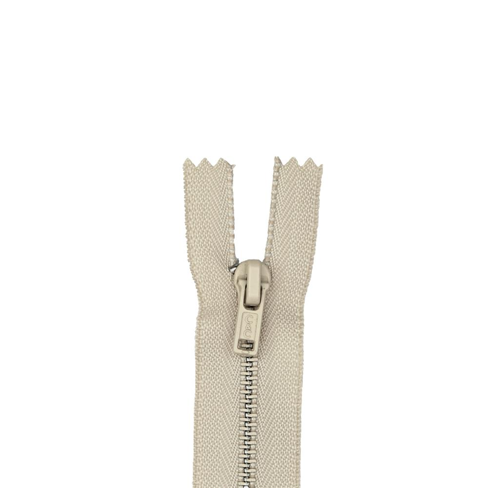 "Metal All Purpose Zipper 9"" Ecru"