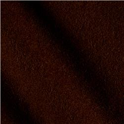 Wool Blend Melton Chocolate Brown