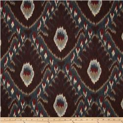 Robert Allen Bold Ikat Currant Fabric