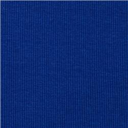 Stretch Bamboo Rayon Rib Knit Solid Royal Blue