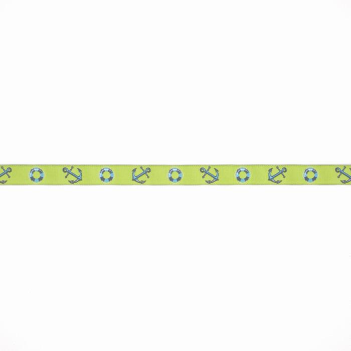 "5/8"" Tula Pink Anchor Ribbon Green"