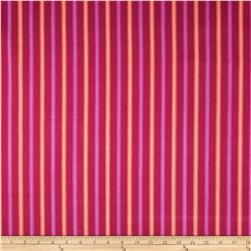 Home Accents Tangiers Stripe Raspberry Fabric