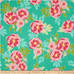 Riley Blake The Cottage Garden Large Floral Teal