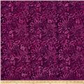 Timeless Treasures Tonga Batik Zanzibar Tropical Floral Eggplant