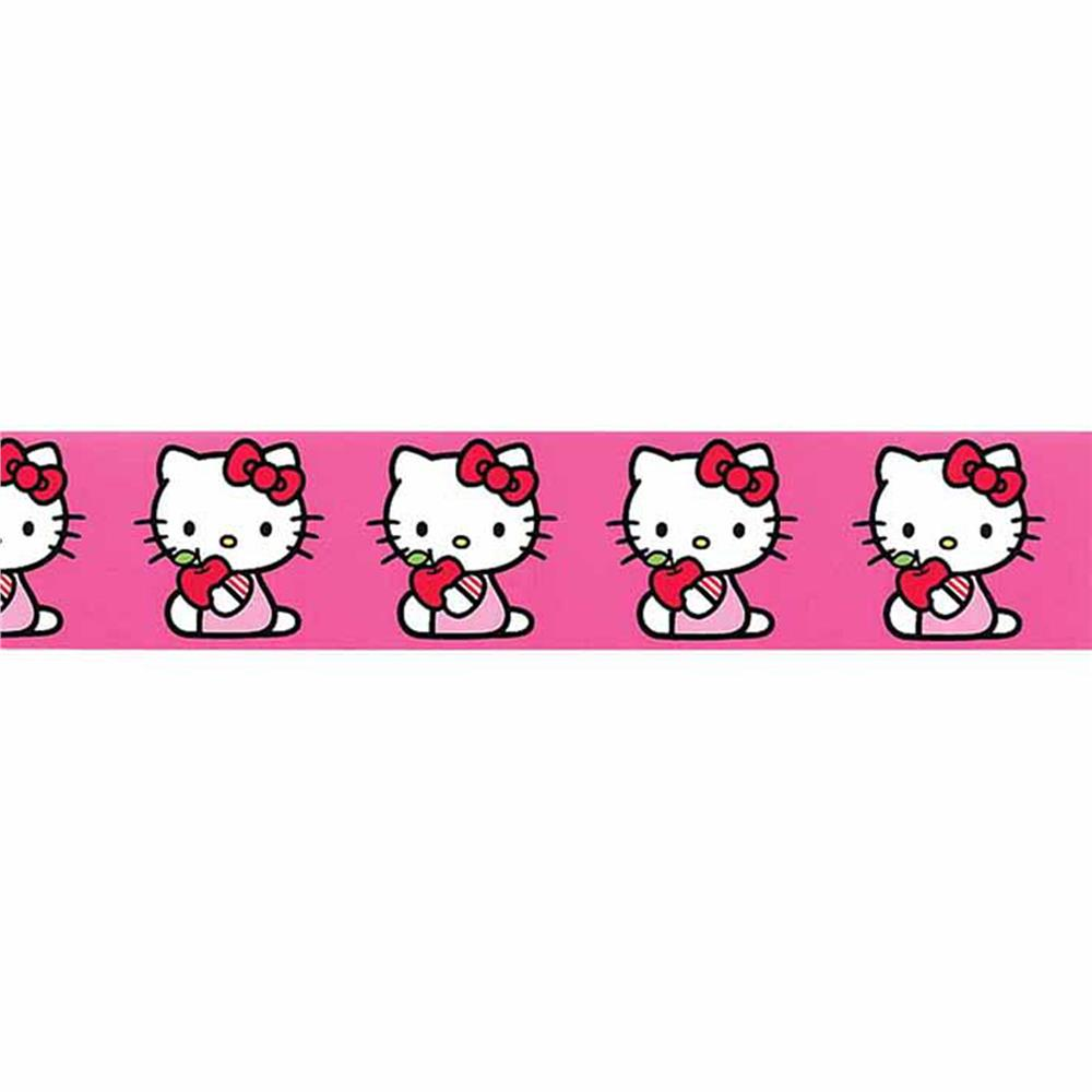 7/8'' Hello Kitty Little Apple Ribbon Pink