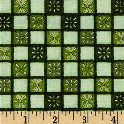 My Farmhouse Kitchen Daisy Squares Green