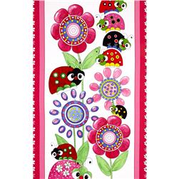 "Lazy Little Ladybugs Ladybugs 24"" Panel Multi"
