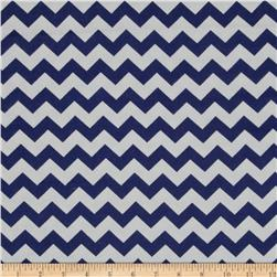 Dreamland Flannel Chevron Navy Skies Fabric