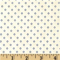 Penny Rose 19th Century Shirtings Diamond Blue Fabric