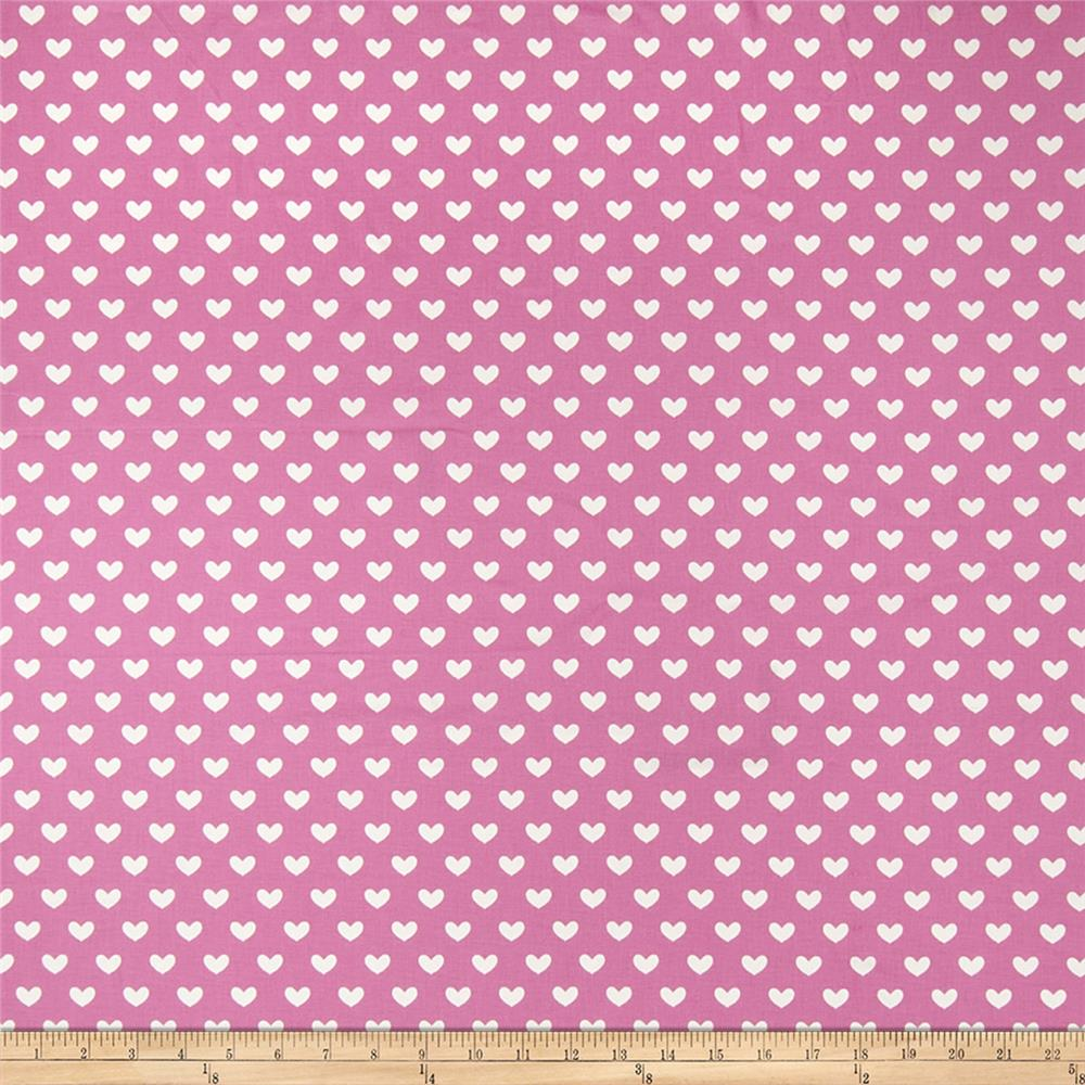 Fabricut Hearts Bubble Gum