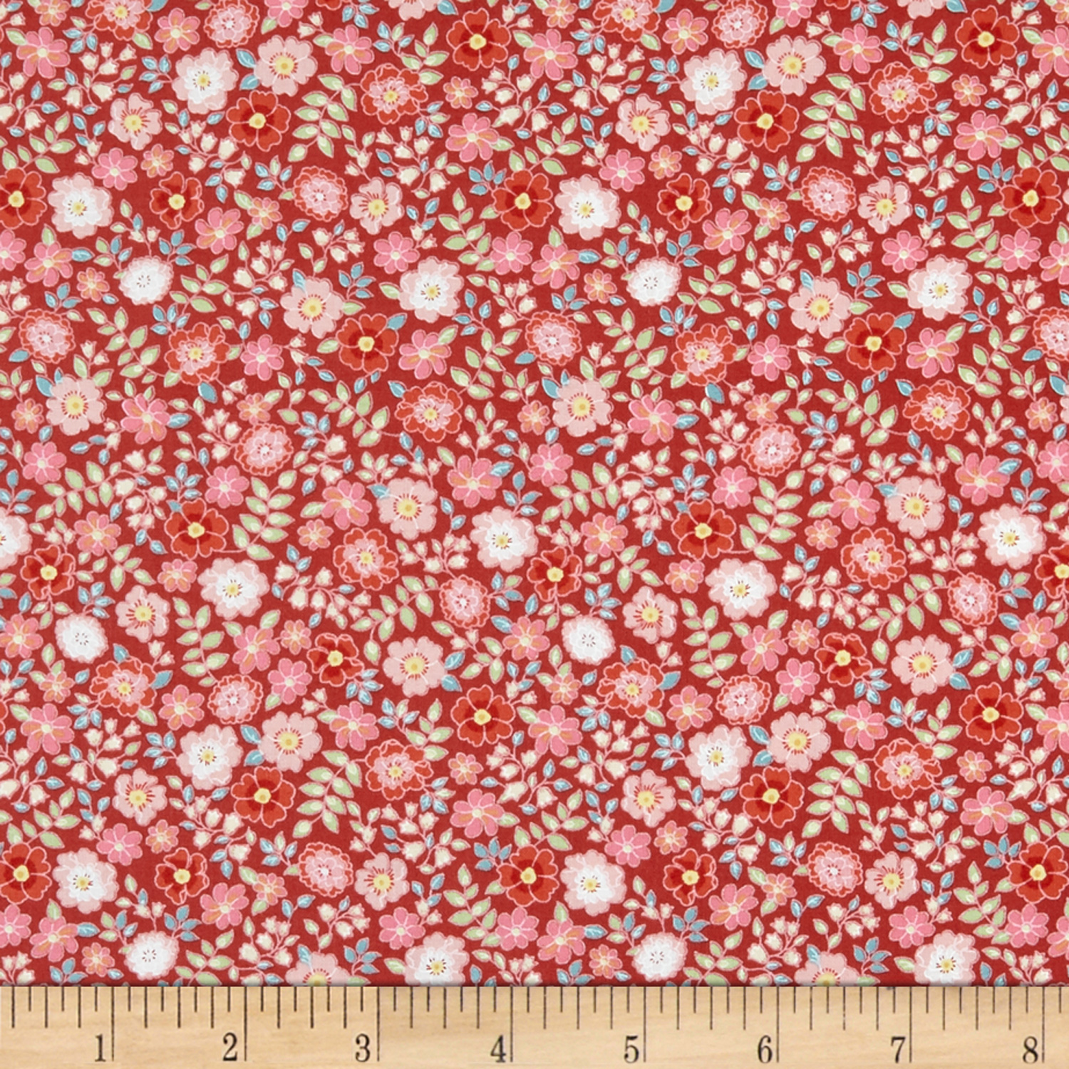 INOpets.com Anything for Pets Parents & Their Pets In The Beginning Fabrics Garden Delights II Garden Blooms Red