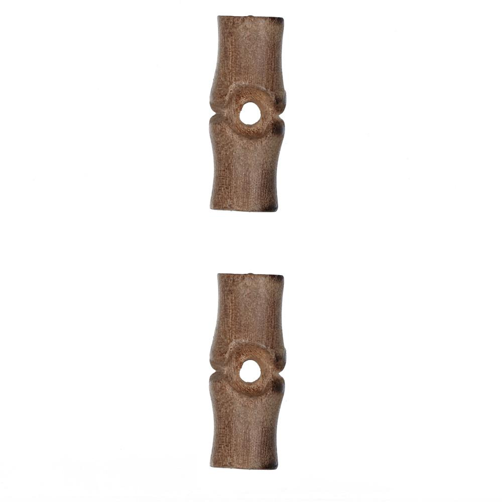 Wood Button 1'' Knuckle Light Wood